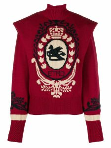 Etro pauldron-shoulder knit sweater - Red