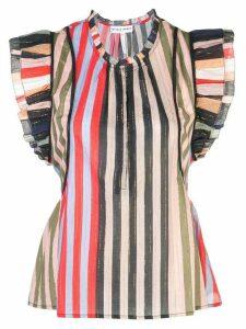 Apiece Apart sleeveless ruffled blouse - Multicolour