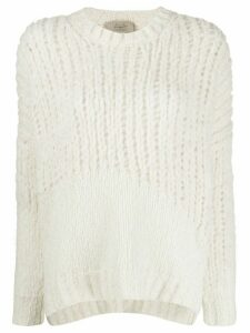 Maison Flaneur loose-fit crew neck jumper - White