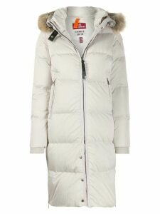 Parajumpers faux-fur padded coat - White