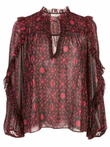 Ulla Johnson printed silk blouse - Pink