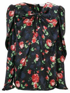 Magda Butrym floral silk blouse - Blue