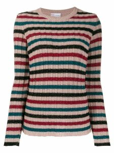 Red Valentino RED(V) metallic striped ribbed jumper - PINK