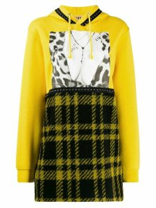 Gina patchwork print hoodie - Yellow