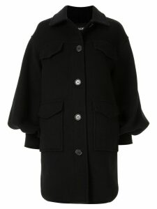 Goen.J Jordyn oversized thick shirt jacket - Black