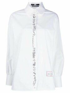 Karl Lagerfeld Tribute Shirt by Diane Krueger - White