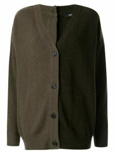 Goen.J two-tone knit cardigan - Black