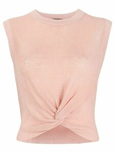 Veronica Beard twist front top - PINK