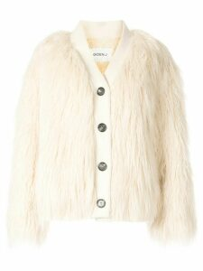 Goen.J Yeti shearling cardigan - White