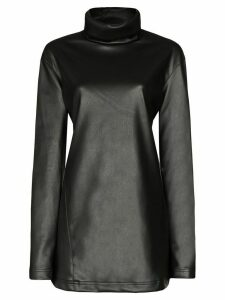 We11done stand collar mini dress - Black