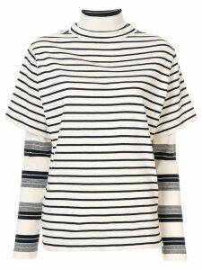 Goen.J layered jersey top - White