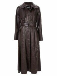 Goen.J vintage croc-effect trench coat - Brown