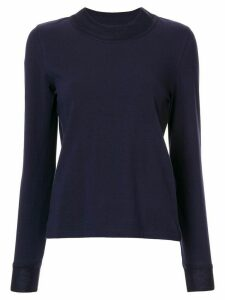Goen.J herringbone jersey top - Blue