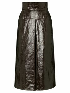Lemaire belted high-waist midi skirt - Brown