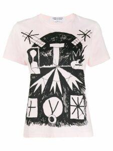 Comme Des Garçons Comme Des Garçons graphic-print T-shirt - PINK
