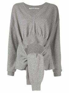 Alexander Wang tied sleeves jumper - Grey