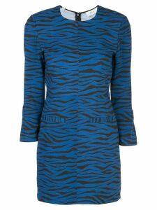 A.L.C. stretch fit tiger-print dress - Blue