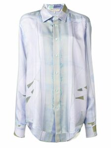 Emilio Pucci Alex Print Faded Silk Shirt - Blue