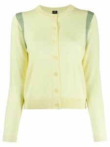 PS Paul Smith long-sleeve fitted cardigan - Yellow