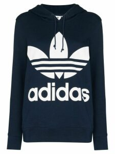 adidas logo-print hooded sweatshirt - Blue