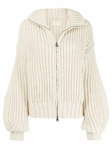 Zadig & Voltaire Aline zip-up cardigan - Neutrals