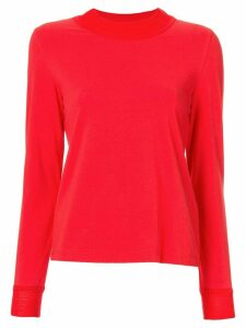 Goen.J herringbone jersey top - Red