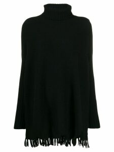 Snobby Sheep roll-neck fringed jumper - Black