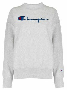 Champion logo embroidered sweatshirt - Grey