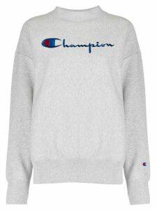 Champion logo embroidered sweatshirt - Grey