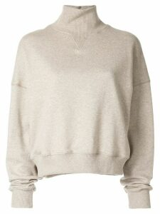 Goen.J roll-neck neck sweatshirt - Grey