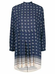 Semicouture Emely tied neck dress - Blue
