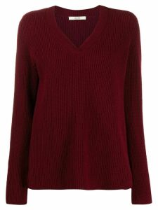 Odeeh ribbed knit jumper - Red