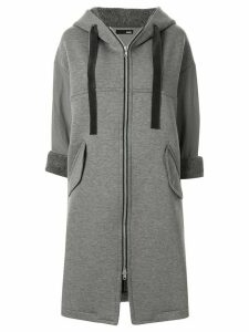 Frei Ea elongated hoodie coat - Grey