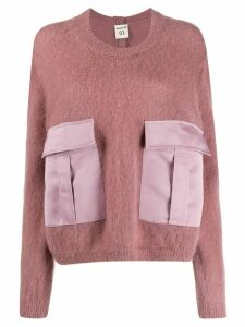 Semicouture oversized long-sleeve sweater - Pink
