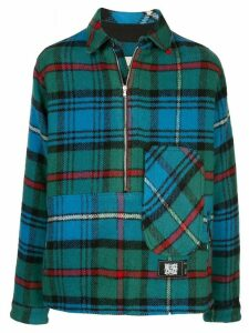We11done checked pullover jacket - Blue