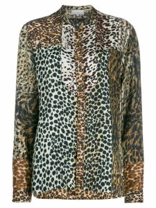 Pierre-Louis Mascia mixed animal-print shirt - Brown