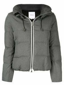 Loveless wide collar padded jacket - Grey