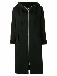 Frei Ea elongated hoodie coat - Black