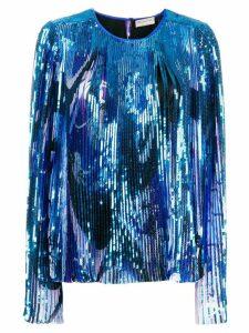 Emilio Pucci sequin embellished blouse - Blue