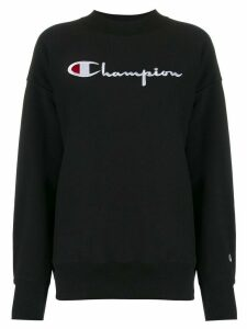 Champion logo embroidered sweatshirt - Black