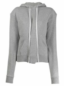 Unravel drawstring long-sleeve hoodie - Grey