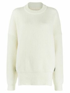 Antonio Berardi ribbed jumper - NEUTRALS