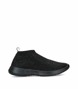Embellished Cambrie Slip-On Sneakers
