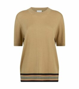 Wool Short-Sleeve Sweater