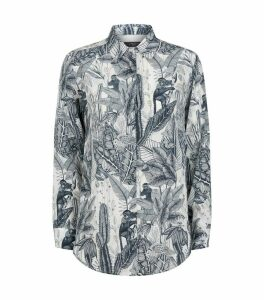 Nature Print Silk Shirt