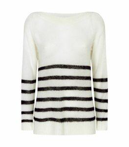 Wool-Blend Lune Sweater