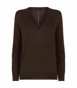 V-Neck Fine Merino Wool Sweater