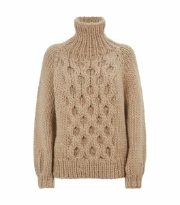 Honeycomb Wool Sweater