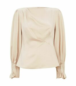 Satin Jacquard Blouse