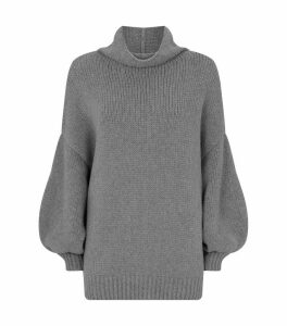 Oversized High-Neck Sweater